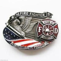 Fire Fighter American Hero Metal Belt Buckle