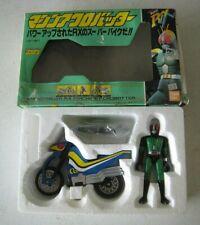 Vintage Bandai Black Kamen Rider DX Figure with Motorcycle MIB #R59