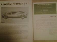 Lenham   Hurst  GT     brochure  prospekt