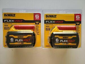 (2) DEWALT DCB606-2 20V 60V FLEXVOLT Li-Ion 6.0 AH Battery packs x 2 NEW IN PACK