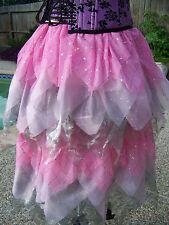 Fairy Princess Coplay Renaissance Festival Skirt Pink & Silver Ladies One Size