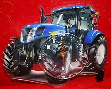Horloge pendule tracteur new holland 1 clock uhr reloj tractor traktor
