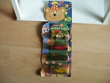Corgi Christmas Tree Teddy 4 car gifset on Card