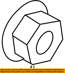 FORD OEM Abs-Upper Bracket Nut W702751S442