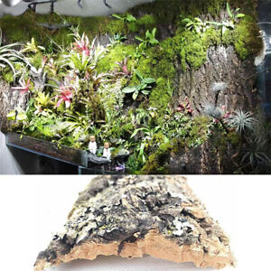 Aquarium Artificial Cork Tree Bark Driftwood Fish Tank Landscaping Decor Supply