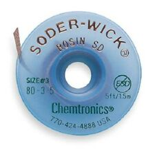 Chemtronics 80-3-5 5ft X1.5 mm Size #3 Desoldering Braid Soder-Wick Rosin USA