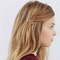 Chic Pin Shape Hair Clip Simple Metal Hairpins Hair Stick Hair Accessories Fw