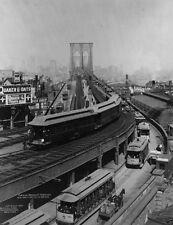 New 8x10 Photo - Train on elevated platform leaving Brooklyn Bridge 1898 NYC