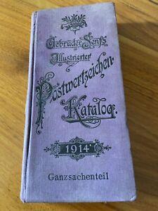 ILLUSTRIERTER POSTWERTZEICHEN  KATALOG 1914 Gebrüder Senf Ganzsachenteil