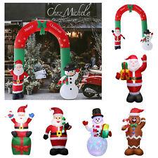 Weihnachtsmann Schneemann LED Beleuchtet Weihnachten Aufblasbar Christmas Deko