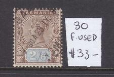 New listing Tasmania: 2/6 Qv Tablet Asc 30 V.F.Used.