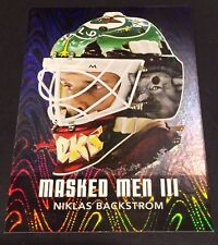 NIKLAS BACKSTROM 2010-11 In The Game Between The Pipes MASKED MEN III Silver #37