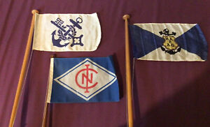 Table/Desk Flags Hapag Lloyd X 2 And One Other. 2 Silk. 1 Synthetic.