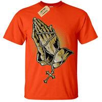 Kids Boys Girls Hands of Prayer T-Shirt rosary beads pray