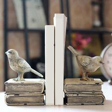 Multicolor Vintage Wooden Bird Book Children Bedroom Bookshelf Home Decor DP