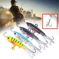 4pcs 60mm Ice Jig Lures Minnow Hard Bait Jigging Fishing Lure Trout Bream Bass