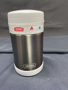 Thermos 16oz Gun Metal Grey/Grey FUNtainer Food Jar Includes Spoon, New!