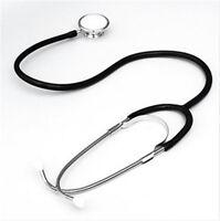 Black Pro Medical Stethoscope Dual Head EMT Doctor Nurse Medical Student Health