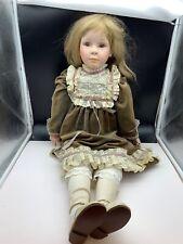 Vera Scholz Repro Künstlerpuppe Porzellan Puppe 80 cm. Top Zustand
