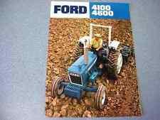 Ford 4100 & 4600 Farm Tractor Color Brochure
