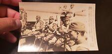 WWII ORIGINAL JAPANESE PRESS  PHOTO  ☆  SOLDIERS IN BOAT  ☆SWORD SAMURAI