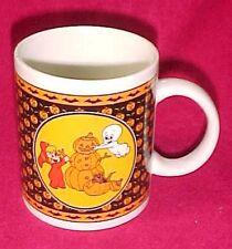 Vtg Casper Friendly Ghost Halloween Coffee Cup Mug Jack O Lantern Wendy Cat Bat