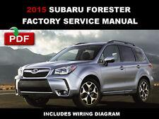 SUBARU FORESTER 2015 SJ ENGINE BRAKE BODY TRANSMISSION SERVICE REPAIR FSM MANUAL