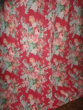 CUSTOM VINTAGE RALPH LAUREN BEACH HOUSE FUCHSIA RED FLORAL (2) PANELS 36 X 81