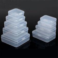5/10 x en plastique clair stockage affaire boîte organisateur universel Portable