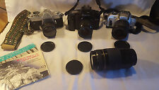 Lot 3 Vintage Mixed Cameras & Lens, Canon, Yashica