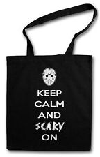 KEEP CALM AND SCARY ON TASCHE STOFFTASCHE Friday The Jason 13th Freitag 13.