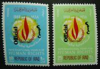 Irak Iraq 1972 Menschenrechte Human Rights Dienst Officials D278-79 MNH