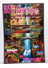 ECHO AND THE BUNNYMEN @ FILLMORE SF/2001 NEVER ROLLED/CONCERT POSTER