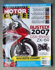 Motorcycle News AMCN Oct 2006 - MV AGUSTA F4 ROCKET 3 TIGER MOTO MORINI SOFTAIL