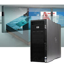 HP Z800 Powerful CAD Workstation 24GB RAM Autodesk Adobe Modeling Rendering W10P