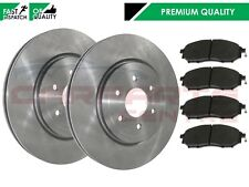 FOR NISSAN NAVARA 2.5 DCi D40 2005 - 2014 FRONT 2 BRAKE DISCS AND PADS SET 320MM