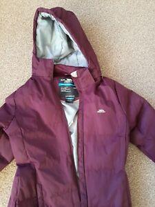 Trespass Age 9/10 Purple Outdoor Jacket waterproof Hooded warm