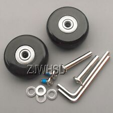 "Luggage Suitcase Replacement Wheels OD 50 (1.97"") ID 6 W 18 Axles 35 Repair Set"
