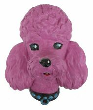 Vintage 50s Style Magenta Poodle Dog Handmade Wall Hanging Kitsch Retro Plaque
