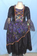 Chic Black Princess Dress Girls Size Large (Estimate 14-16) Velour Bodice
