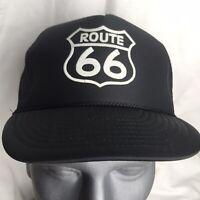 Route 66 Hat Baseball Cap Mesh Back Trucker Vintage Nissun