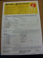 23/04/1991 Cricket Scorecard: Somerset v Middlesex [Benson & Hedges Cup] One Day