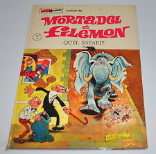 MORTADEL et FILEMON BD #3 Quel Safari French comic Francisco IBANEZ 1972