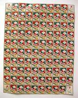 1936 Sheet of National Tuberculosis Association Christmas Seals