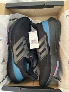 adidas Mens UltraBoost 21 Sneakers SZ 10.5 Core Black/Carbon/Active Teal