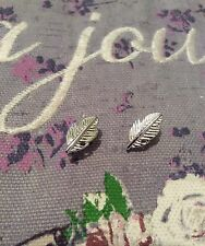FREE GIFT BAG Bird Angel Wings Feather Stud Earrings Silver Plated Jewellery