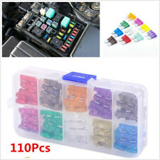 110 Pcs Mixed Color Small&Middle Size Car Offroad Low Profile Blade Fuse 2-35AMP