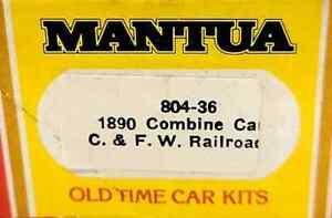 HO Mantua 804-36 1890 Combine Car C. & F. W. Railroad NIOB