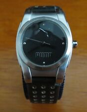 Puma Silver with Black Face Womens Watch - Model: PL190