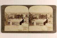 Italia Roma Vaticano Place Saint-Pierre 1900 Foto Stereo Vintage Albumina